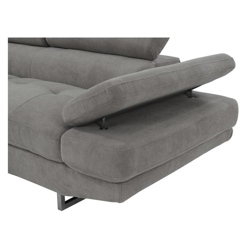 Taheri Gray Corner Sofa w/Left Chaise  alternate image, 5 of 8 images.