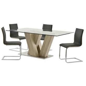 Solimar Gray 5-Piece Casual Dining Set