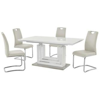 Lila White 5-Piece Dining Set