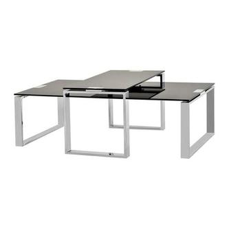 Katrine Black Coffee Table Set Of 2