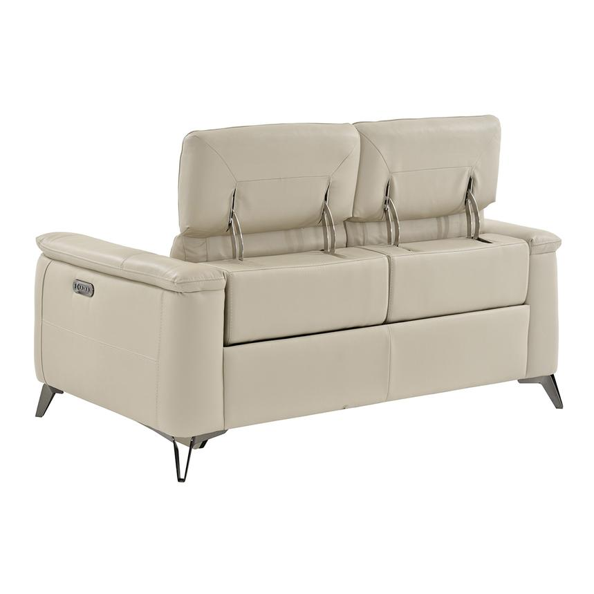 Anabel Cream Power Motion Leather Loveseat  alternate image, 4 of 11 images.