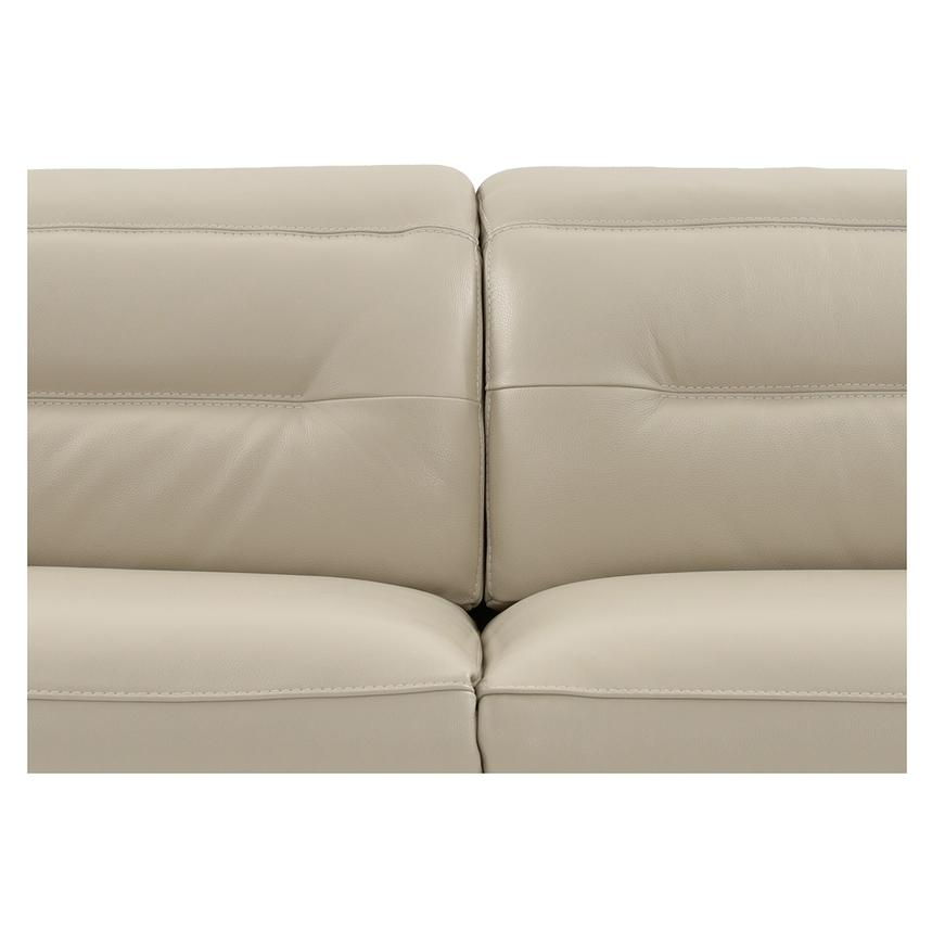 Anabel Cream Power Motion Leather Loveseat  alternate image, 6 of 11 images.