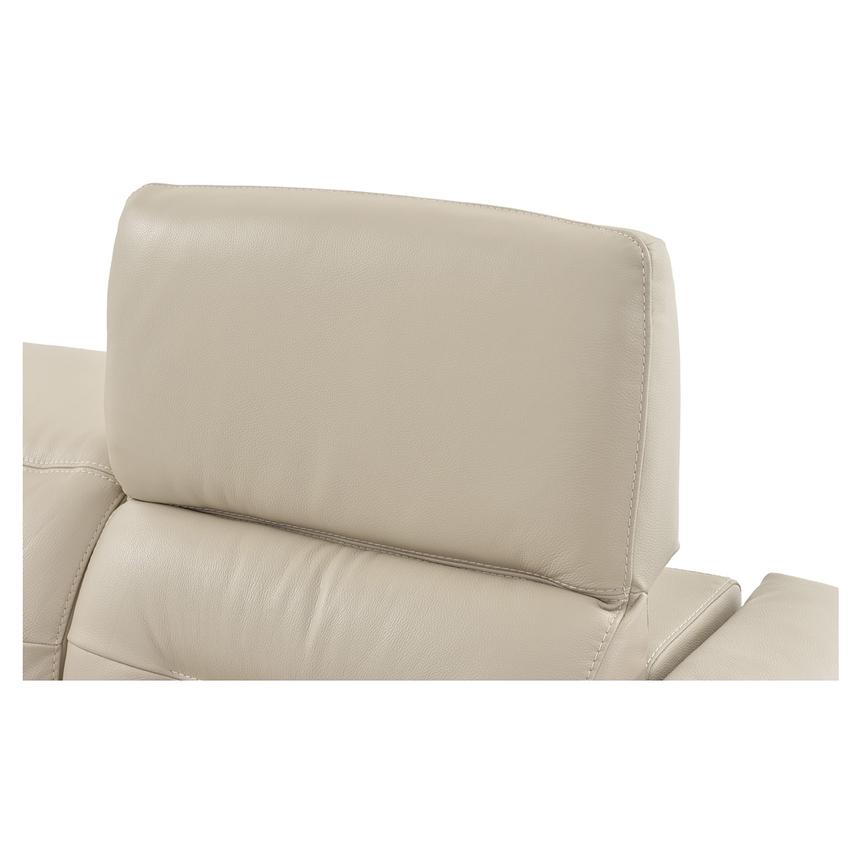 Anabel Cream Leather Power Reclining Loveseat  alternate image, 8 of 11 images.