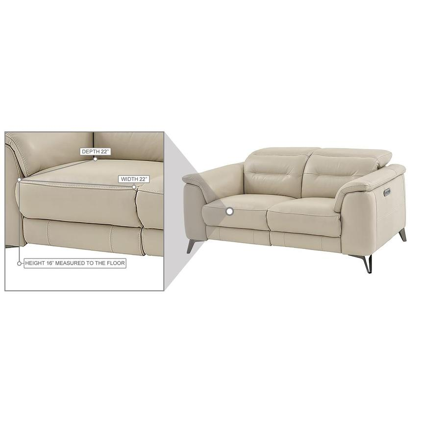 Anabel Cream Leather Power Reclining Loveseat  alternate image, 14 of 15 images.