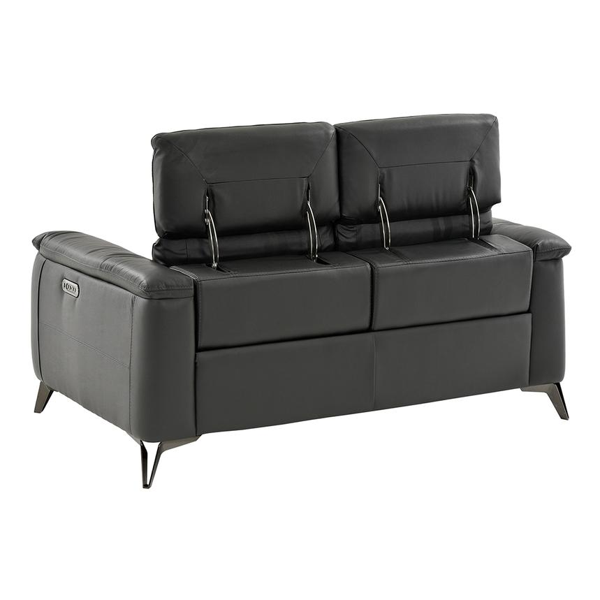 Anabel Gray Power Motion Leather Loveseat  alternate image, 4 of 9 images.