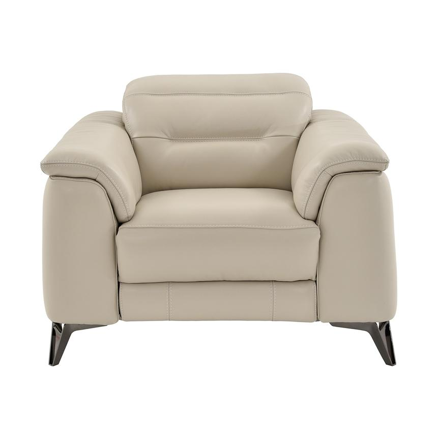 Anabel Cream Leather Power Recliner  alternate image, 3 of 9 images.