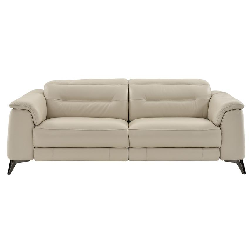 Anabel Cream Leather Power Reclining Sofa  alternate image, 8 of 17 images.