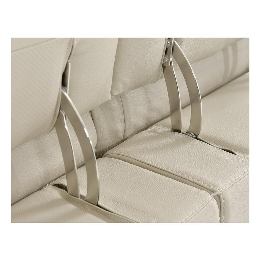 Anabel Cream Power Motion Leather Sofa  alternate image, 9 of 11 images.