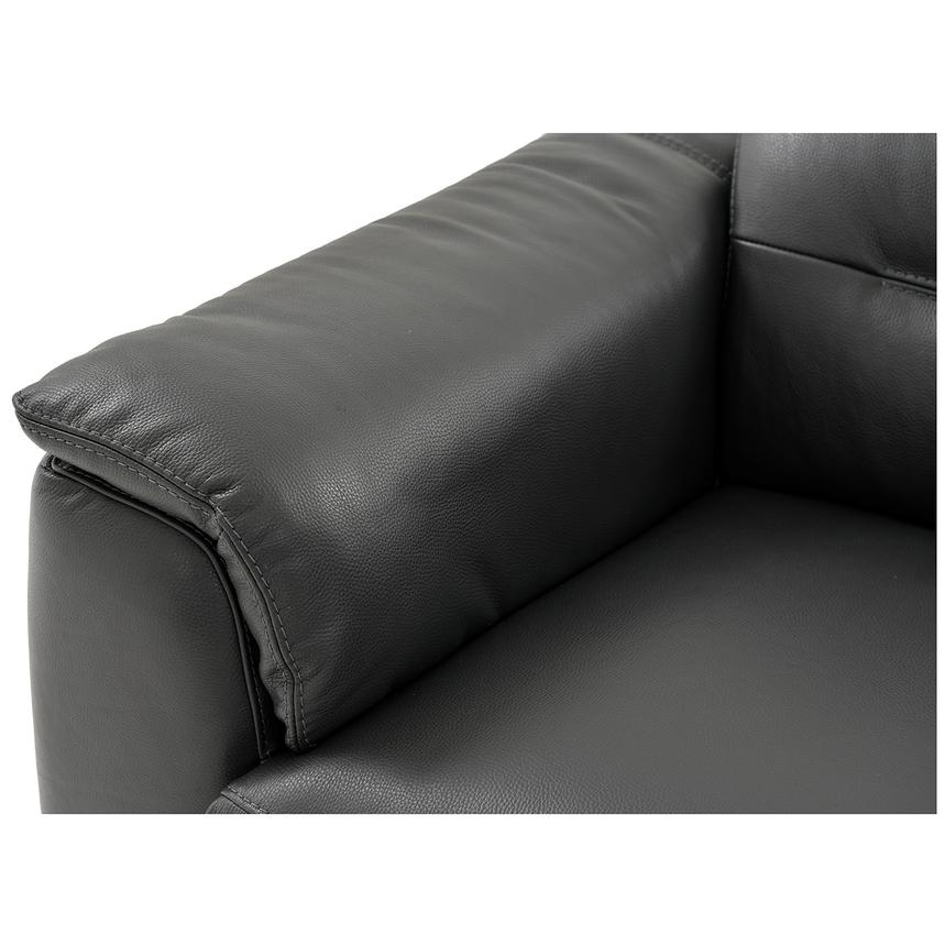 Anabel Gray Leather Power Reclining Sofa  alternate image, 9 of 15 images.