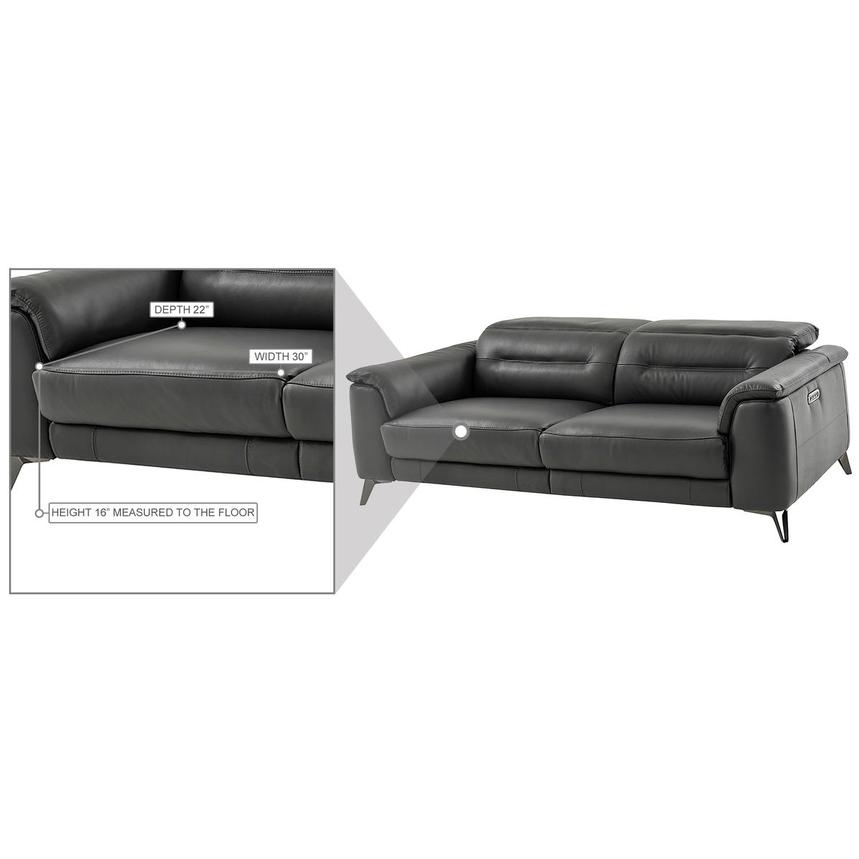 Anabel Gray Leather Power Reclining Sofa  alternate image, 14 of 15 images.