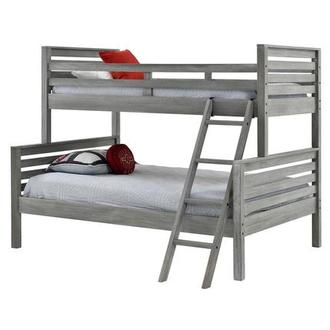 Montauk Gray Twin Over Full Bunk Bed Made in Brazil