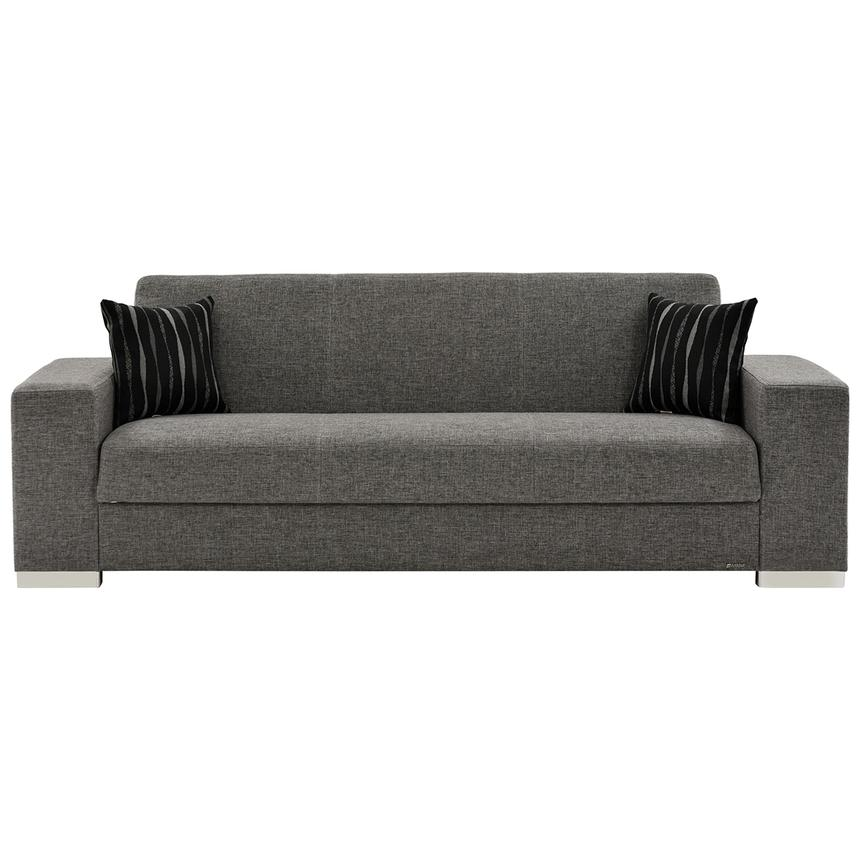 Kobe Gray Futon Sofa  alternate image, 4 of 7 images.