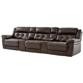 Stallion Brown Home Theater Leather Seating