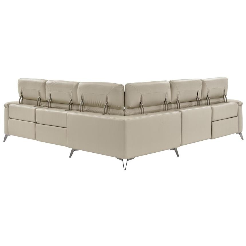 Anabel Cream Leather Power Reclining Sectional  alternate image, 8 of 16 images.