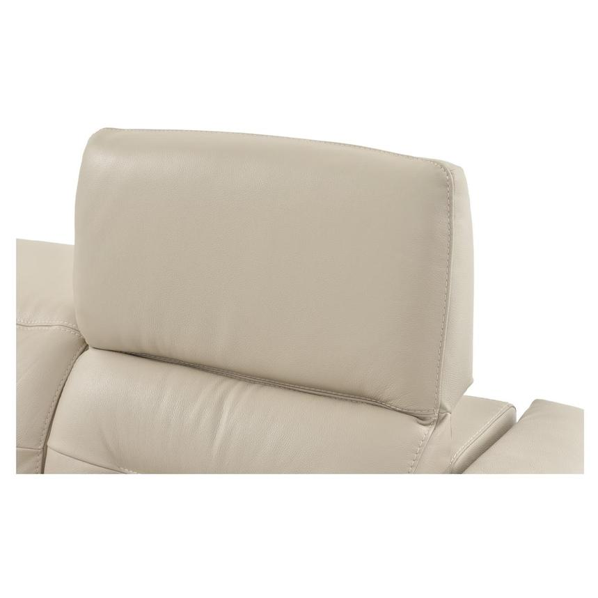 Anabel Cream Leather Power Reclining Sectional  alternate image, 13 of 16 images.