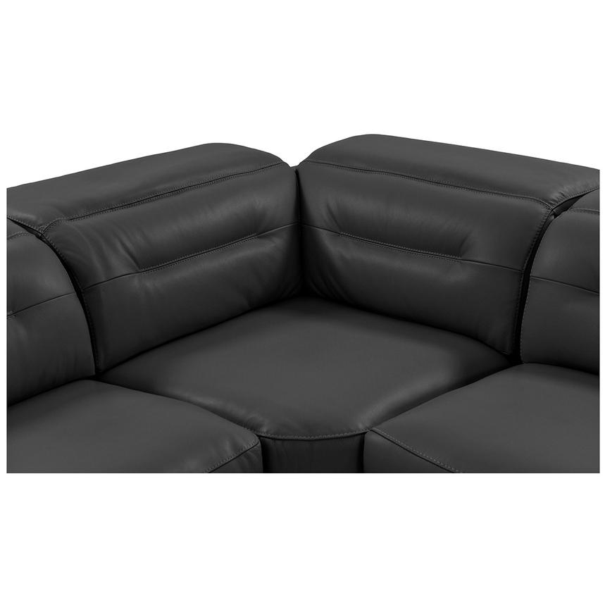 Anabel Gray Leather Power Reclining Sectional  alternate image, 7 of 15 images.