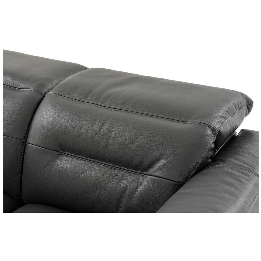 Anabel Gray Leather Power Reclining Sectional  alternate image, 9 of 15 images.