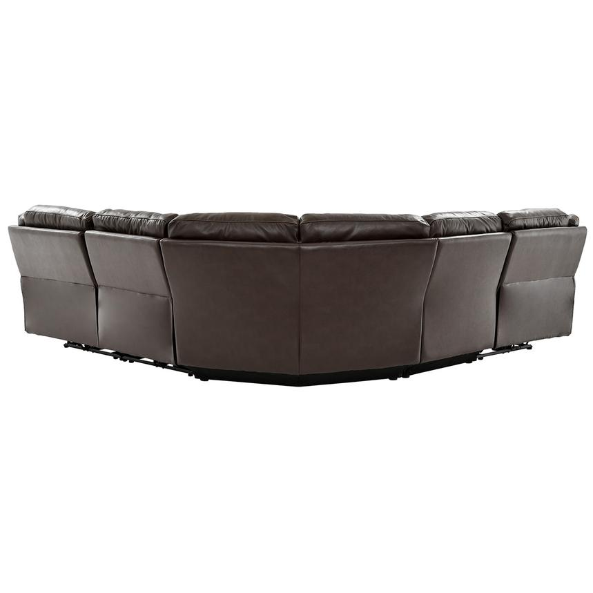 Stallion Brown Leather Power Reclining Sectional  alternate image, 3 of 10 images.
