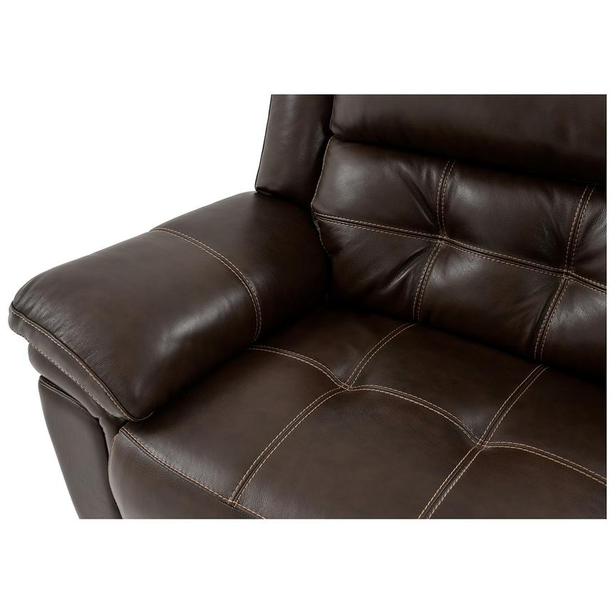 Stallion Brown Leather Power Reclining Sectional  alternate image, 8 of 10 images.