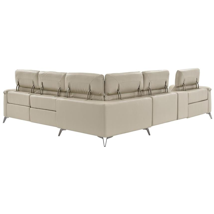 Anabel Cream Power Motion Leather Sofa w/Right & Left Recliners  alternate image, 4 of 13 images.