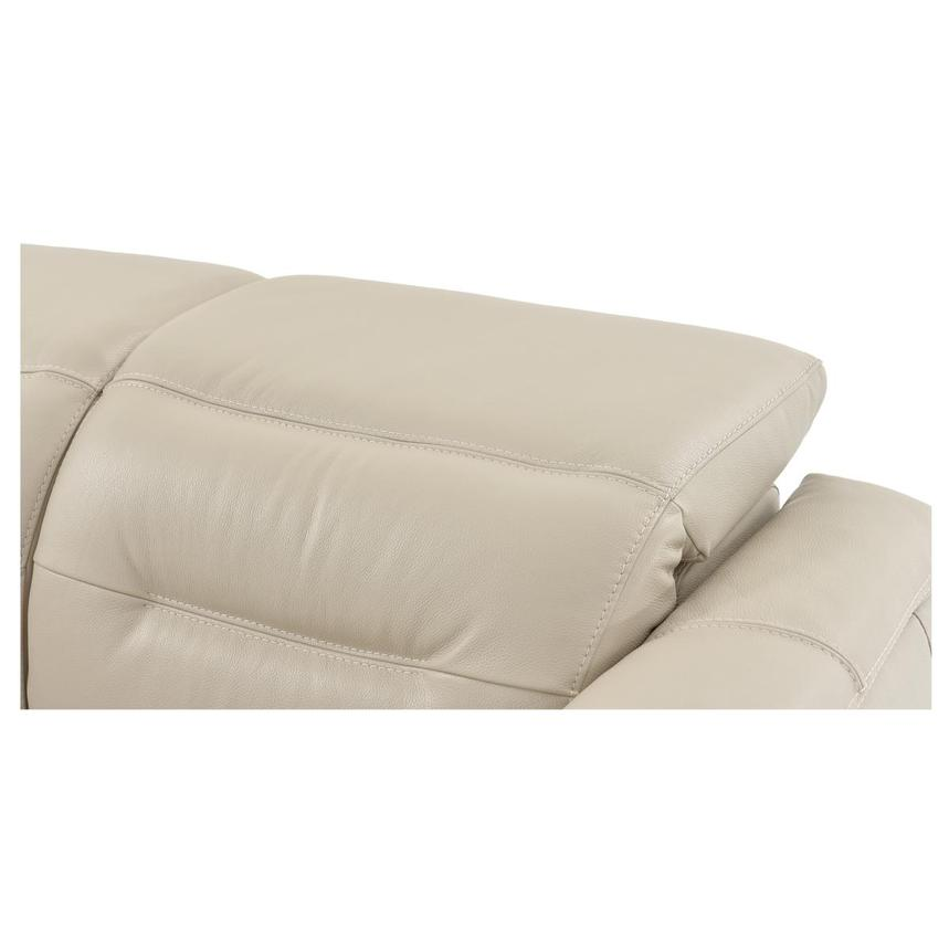 Anabel Cream Power Motion Leather Sofa w/Right & Left Recliners  alternate image, 9 of 13 images.