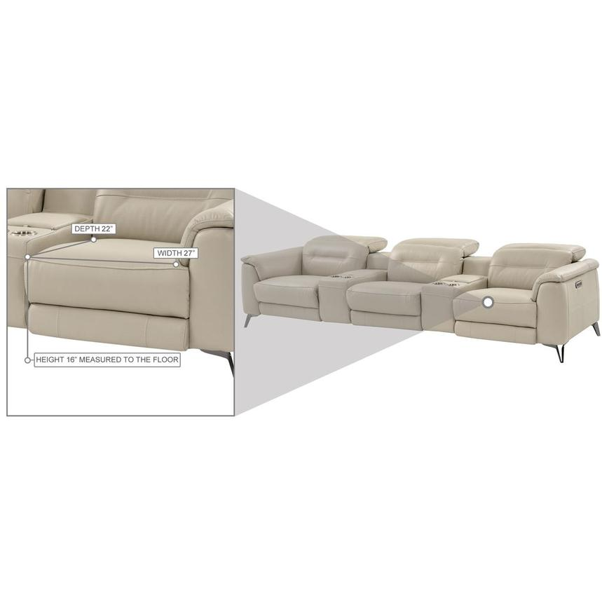Anabel Cream Home Theater Leather Seating  alternate image, 15 of 16 images.