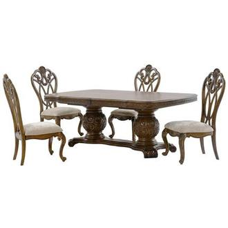 Eden's Paradise 5-Piece Formal Dining Set