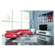 Toronto Red Power Motion Leather Sofa w/Right Chaise  alternate image, 2 of 12 images.