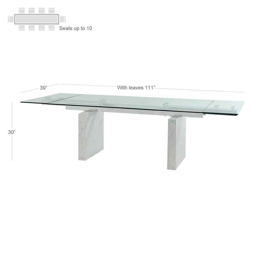 Industria Extendable Dining Table  alternate image, 3 of 7 images.