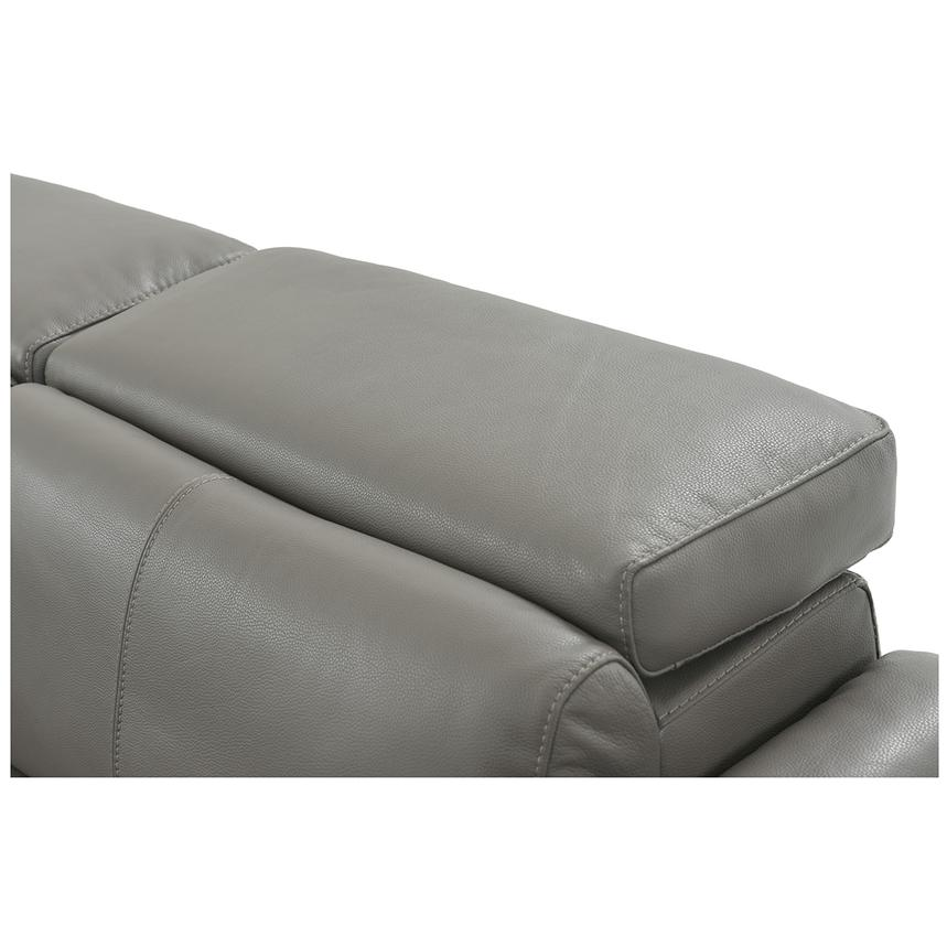 Charlie Gray Leather Power Reclining Sectional  alternate image, 7 of 12 images.