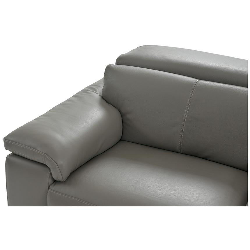 Charlie Gray Leather Power Reclining Sectional  alternate image, 5 of 13 images.