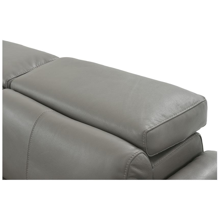 Charlie Gray Leather Power Reclining Sectional  alternate image, 8 of 12 images.