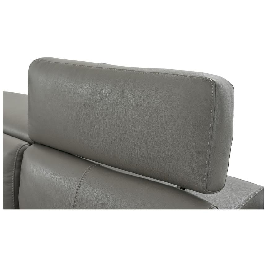 Charlie Gray Power Motion Leather Sofa w/Right & Left Recliners  alternate image, 8 of 10 images.