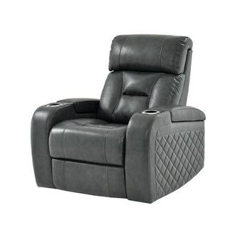 Gio Gray Leather Power Recliner