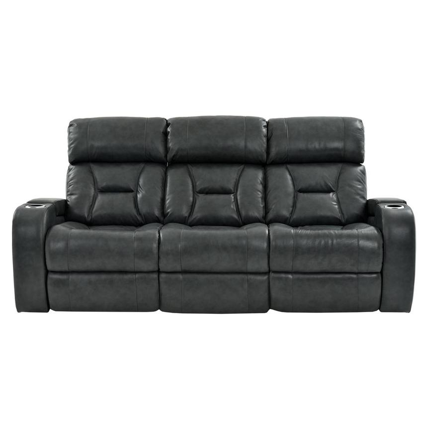 Gio Gray Leather Power Reclining Sofa  main image, 1 of 16 images.