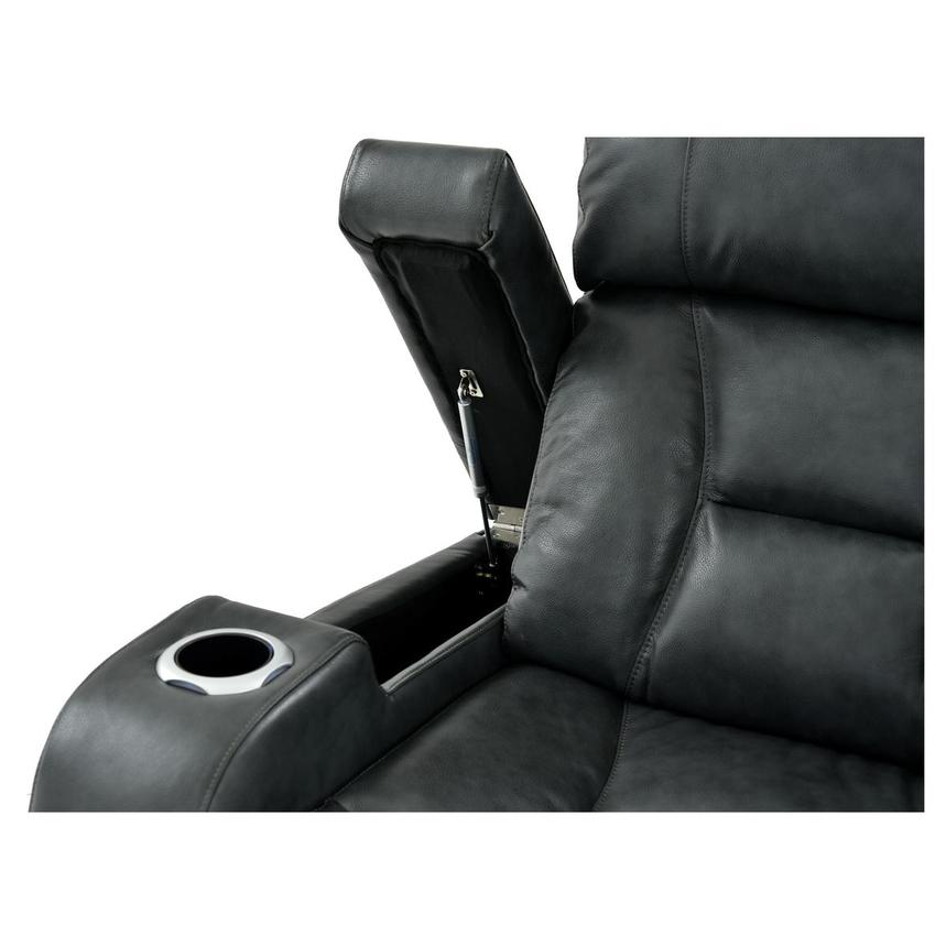 Gio Gray Leather Power Reclining Sofa  alternate image, 8 of 13 images.