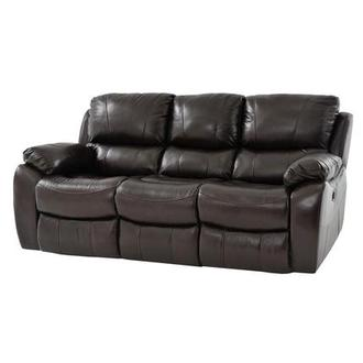 Mack Brown Leather Power Reclining Sofa