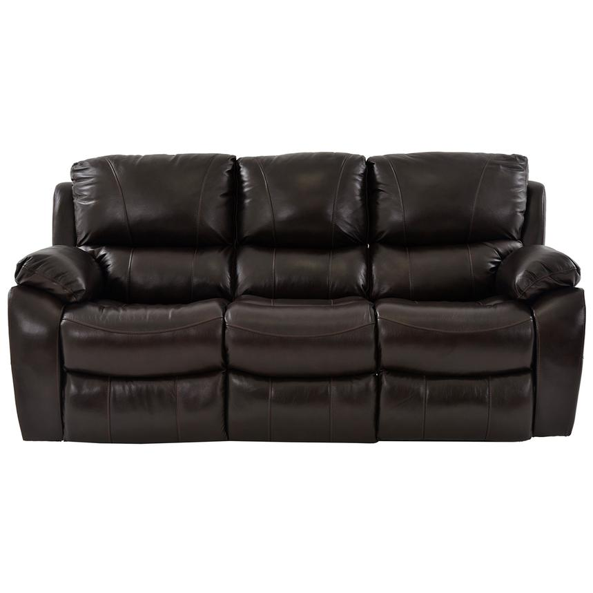 Mack Brown Power Motion Leather Sofa  alternate image, 3 of 6 images.