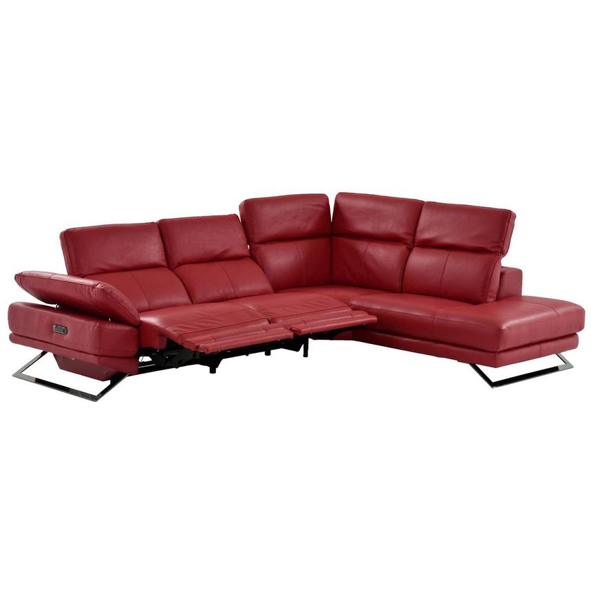 Toronto Red Leather Power Reclining