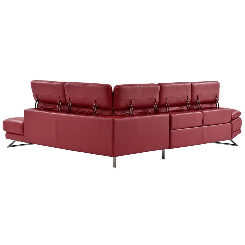 Toronto Red Power Motion Leather Sofa w/Right Chaise  alternate image, 4 of 12 images.