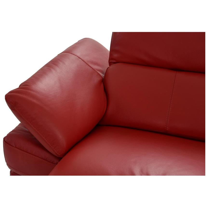Toronto Red Leather Power Reclining Sofa w/Right Chaise  alternate image, 7 of 13 images.