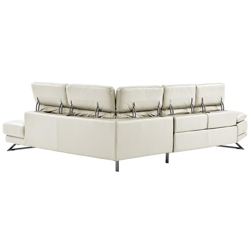 Toronto White Power Motion Leather Sofa w/Right Chaise  alternate image, 3 of 11 images.