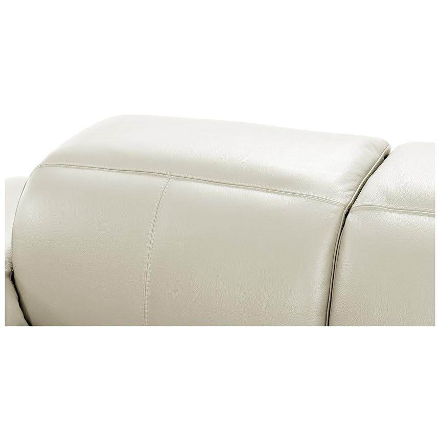Toronto White Leather Power Reclining Sofa w/Right Chaise  alternate image, 7 of 11 images.