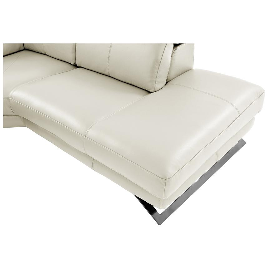 Toronto White Power Motion Leather Sofa w/Right Chaise  alternate image, 9 of 11 images.