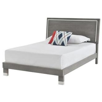 Venezia Gray Full Platform Bed Made in Brazil