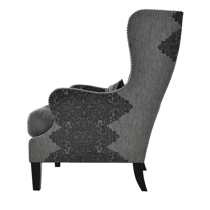 Sophia Black Accent Chair  alternate image, 4 of 7 images.