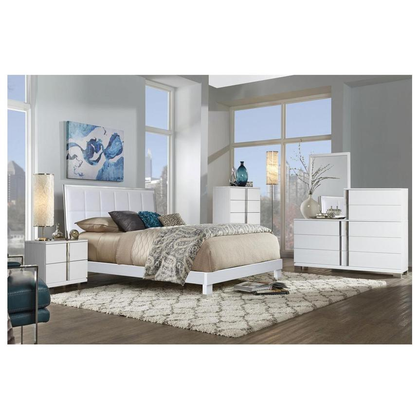 Venezia White Queen Platform Bed  alternate image, 2 of 5 images.