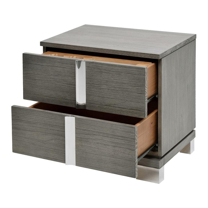 Venezia Gray Nightstand Made in Brazil  alternate image, 4 of 8 images.