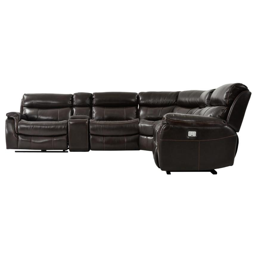 Jeremi Power Motion Leather Sofa w/Right & Left Recliners  alternate image, 3 of 8 images.