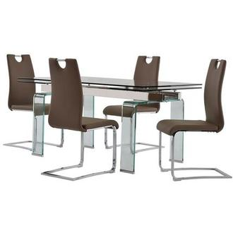 Millie/Josseline Taupe 5-Piece Dining Set
